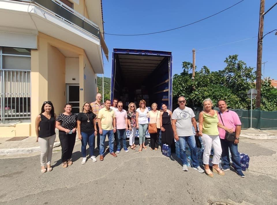 Aποστολή βοήθειας στις πυρόπληκτες περιοχές από το δήμο Ιάσμου