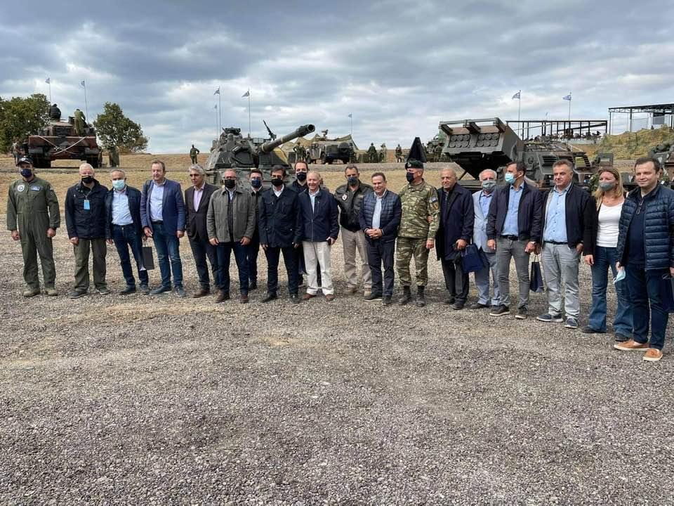 Ο βουλευτής Ροδόπης ΣΥΡΙΖΑ Δημήτρης Χαρίτου στη διακλαδική στρατιωτική άσκηση «Παρμενίων 2021»