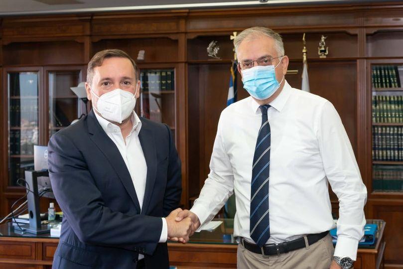 Ο Γιάννης Ζαμπούκης συναντήθηκε με τον Υπουργό Προστασίας του Πολίτη