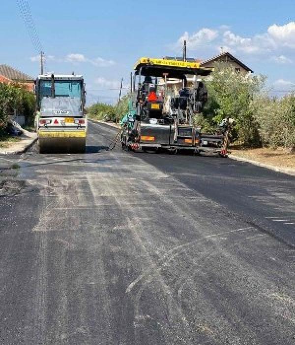 """Εκτέλεση του έργου """"Συντήρηση – Ασφαλτόστρωση δρόμου από χείμαρρο Δοξάτου έως Κεφαλάρι κατά τμήματα"""""""