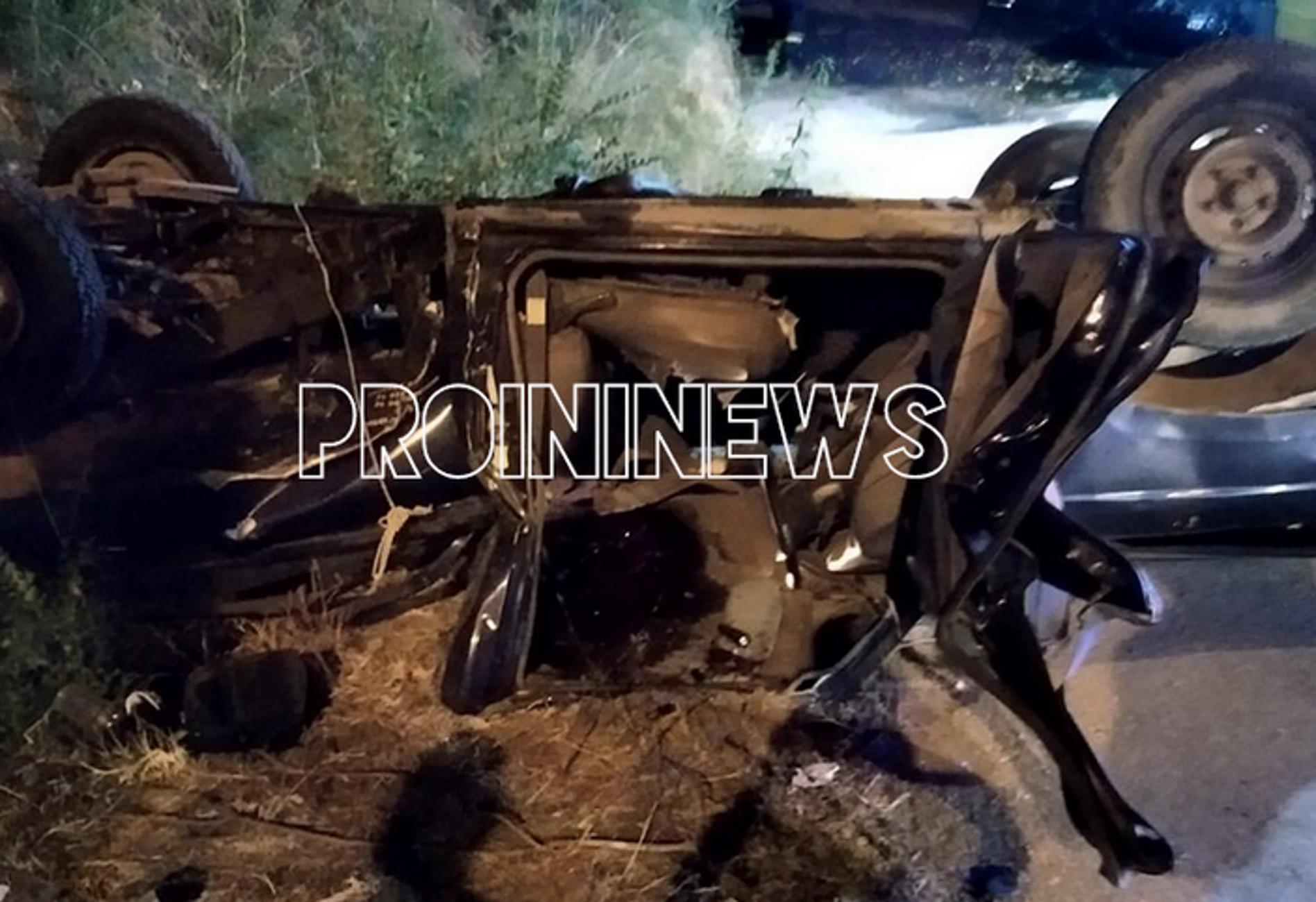 Tροχαίο στην Καβάλα με πτώση δύο αυτοκινήτων από γέφυρα