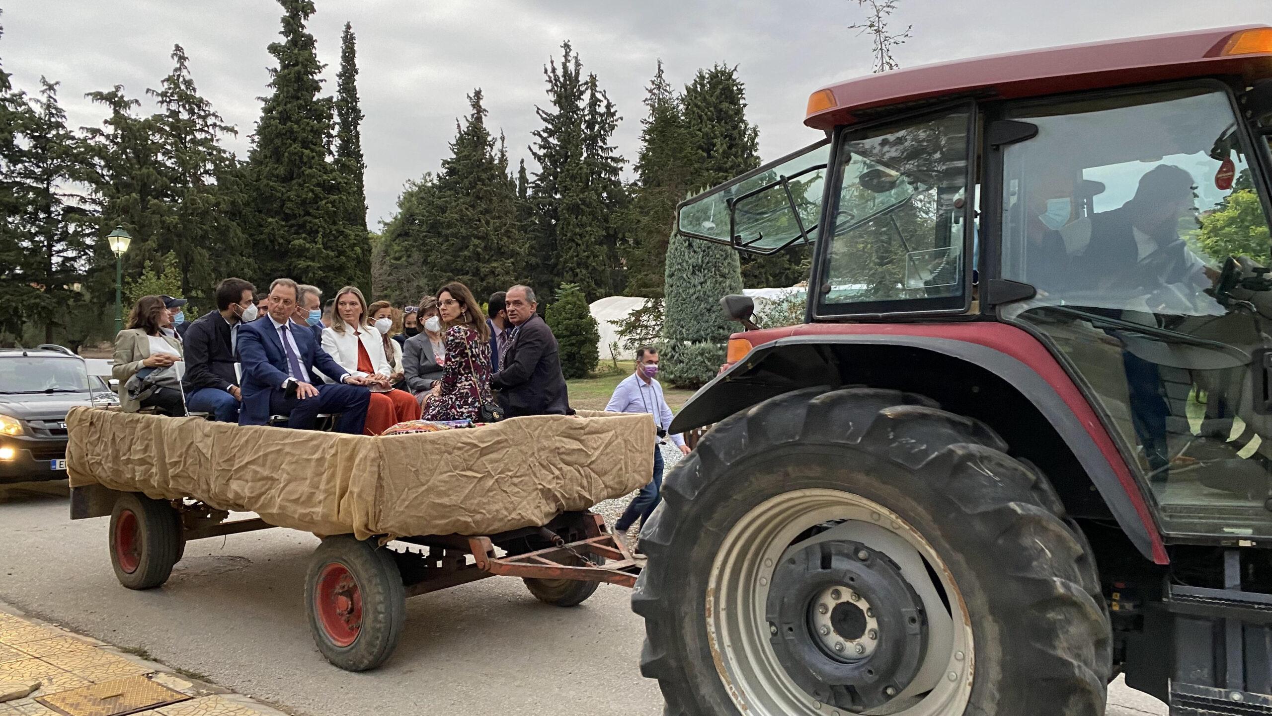 Επίσκεψη υπουργού Αγροτικής Ανάπτυξης και Τροφίμων, Σπήλιου Λιβανού