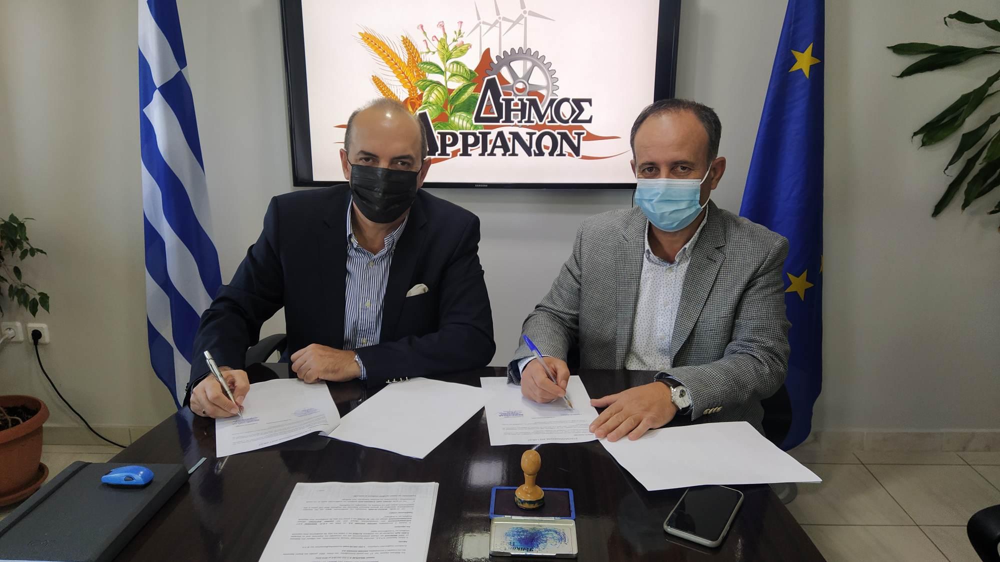 Εγκατάσταση LED και στον Δήμο Αρριανών