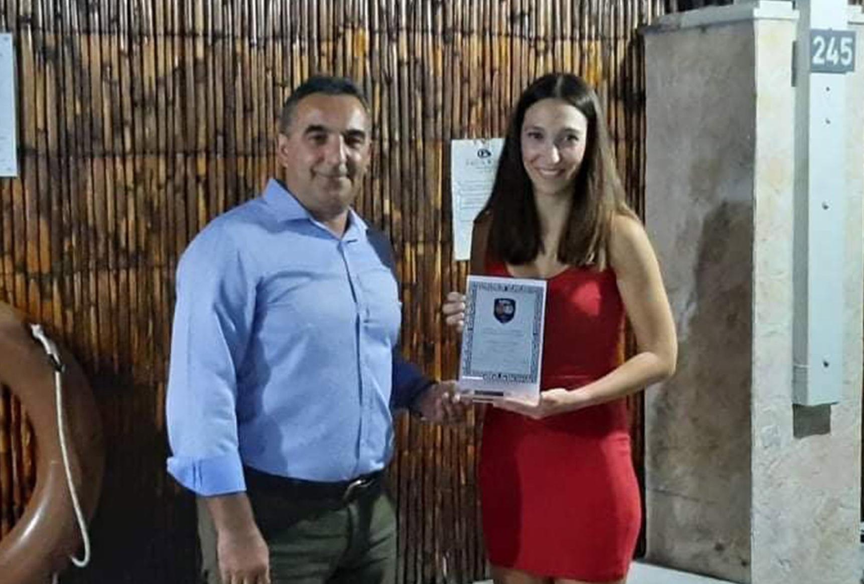 Βραβεύτηκε η Κομοτηναία διαιτήτρια Νατάσα Τσακιράκη