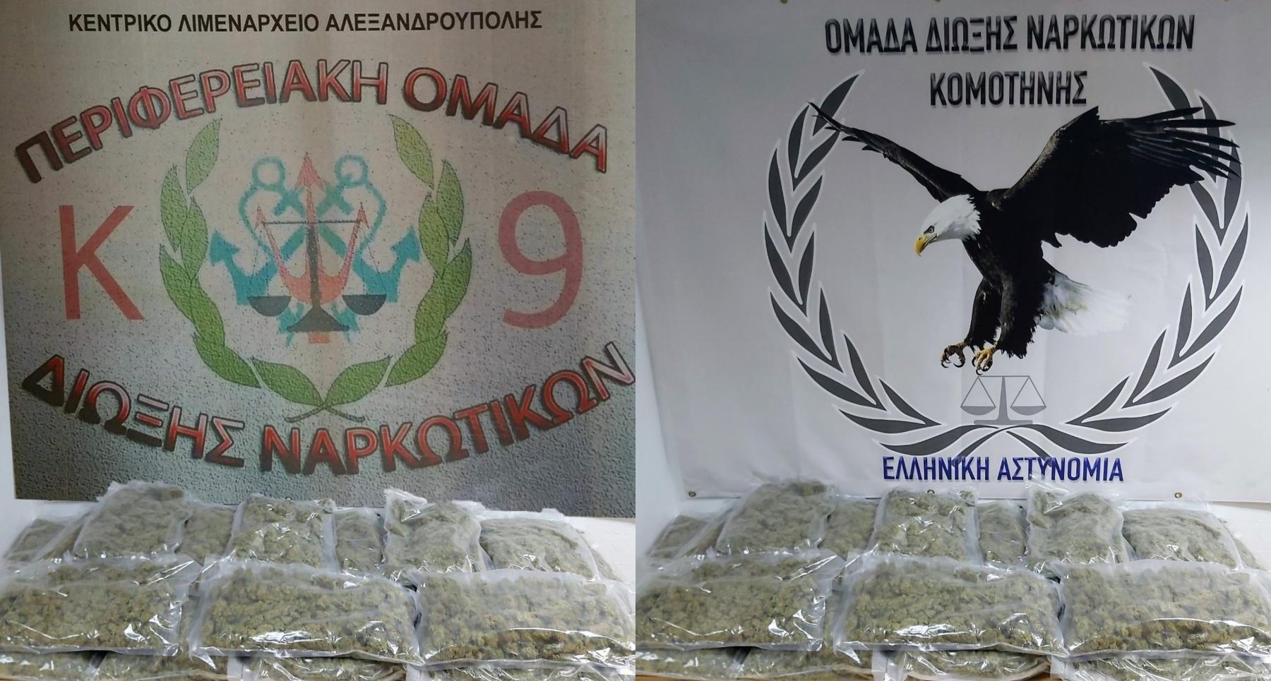 Συνελήφθησαν κατά τη διάρκεια οργανωμένης επιχείρησης δύο αλλοδαποί για διακίνηση ναρκωτικών