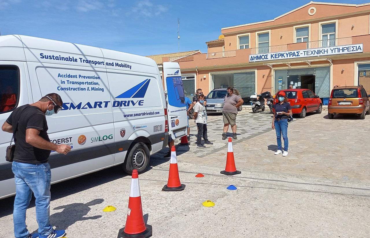 """Επιμόρφωση των οδηγών απορριμματοφόρων  του Δήμου Κ. Κέρκυρας μέσω του έργου """"E-HORECA WANET"""""""