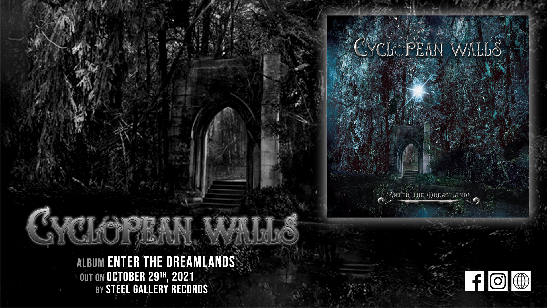 "Cyclopean Walls –"" The Doom That Came To Sarnath"" από το επερχόμενο άλμπουμ ""Enter The Dreamlands"""
