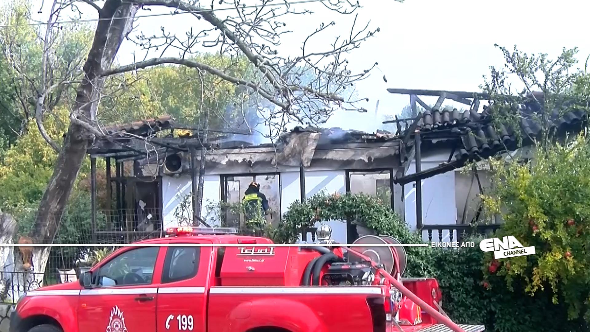 Σπίτι κάηκε στον οικισμό των Ασωμάτων Ροδόπης